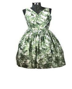 1950 Rockabilly Rose Summer Vintage Sun Dress, Just In     #SunDress #rockabilly #VintageDress #SmallDress #SummerDress #cotton #1950S #Vintage1950sDress
