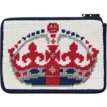 England-Inspired Coin Purse Needlepoint Kit