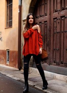 Off shoulder sweater. Look estilo 2016.