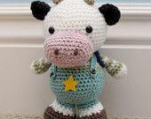 Crochet Amigurumi Pattern - Clarence Cow