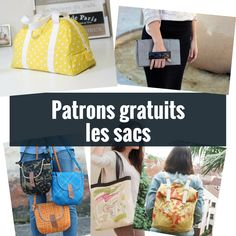 Patrons gratuits: les sacs – Atelier 292 - En Tutorial and Ideas Coin Couture, Couture Sewing, Sewing Online, Diy Tote Bag, Tote Bags, Handmade Clothes, Sewing Hacks, Sewing Tips, Sewing Ideas