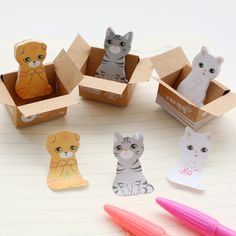 Intelligent 1 Pcs Cartoon Cat Dog Box Memo Pad 3d Kawaii Scrapbooking Stickers Korean Stationery Sticky Notes Office School Supplies High Resilience Notebooks & Writing Pads Memo Pads