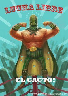 El Cacto Mexican Wrestler by RPartridge.deviantart.com on @DeviantArt