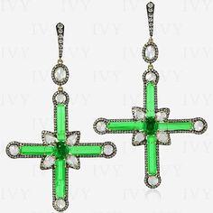 www.ivynewyork.com Ruby And Diamond Necklace, Crosses, Emerald Green, Envy, High Fashion, Symbols, Jewellery, Instagram Posts, Rocks