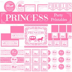 Free Princess Party Printables.  http://www.printabelle.com