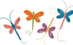 mariposa-libelula-y-mariquita-en-corchet