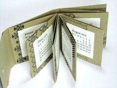 Mini calendrier et son tuto : 8-12-2013 http://www.nellisstempeleien.de/kleiner-faltkalender/