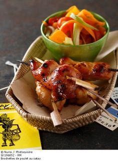 Détail de l'image 196852: Brochettes de poulet au satay
