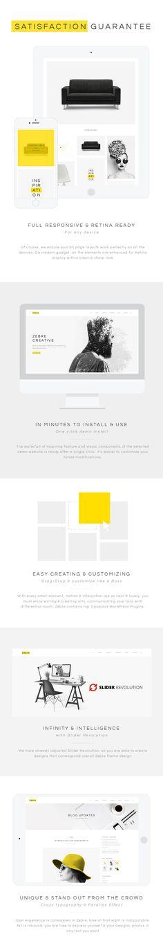Zebre - Minimal, Agency & Porfolio WP Theme - WordPress | ThemeForest
