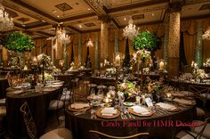 A warm brown reception at The Drake #weddings #chicagoweddings #thedrake #decor #blisschicago