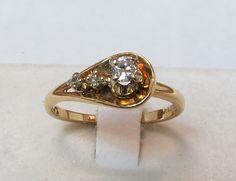 Vintage Diamond Ladies Engagement Ring by EstateGems on Etsy, $155.00