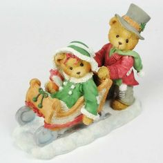 Sleds For Sale, Christmas Scenes, Christmas Ornaments, Clay Bear, Teddy Bear Pictures, Paper Crafts, Diy Crafts, Boyds Bears, Cute Teddy Bears