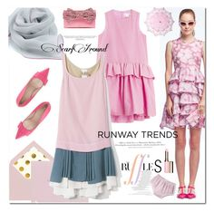"""""""Runaway Trends: RUFFLES"""" by mashajazzliving ❤ liked on Polyvore featuring Kate Spade, Victoria, Victoria Beckham, H&M, MANGO, N°21, Clarins and Cultural Intrigue"""