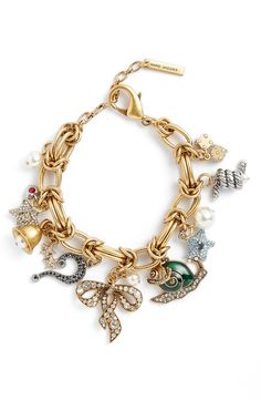 Simply adoring the eclectic mix of charms that decorate this glistening bracelet from Marc Jacobs.