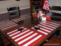 star and stripes placemats