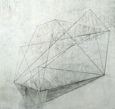 Cluster. (2) 120cm x 120cm Oil, Graphite, wax, paper and Gesso on canvas. http://helenbooth.com