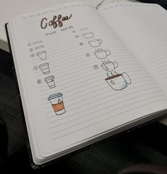 A quick, simple tutorial on how to create two adorable coffee mugs! A great addition to any bullet journal.