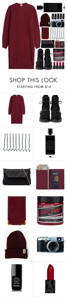 """""""One for the road"""" by cnellepoms ❤ liked on Polyvore featuring Kenzo, Alexander Wang, BOBBY, Agonist, Royce Leather, Cartier, Poler, Fujifilm, Chanel and marsala"""