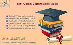 Koncept Academy invites students to continue preparation for exams within our bank po exams coaching classes in delhi where rich skilled faculties guide banking job aspirants about how to clear exams. For advantages of our bank po exams coaching institute in delhi, you must visit http://www.konceptacademy.com/bank-exams.php where you will find exact details regarding bank po exams coaching in delhi and syllabus.