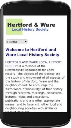Finished making the website for Hertford and Ware Local History Society more mobile-friendly: www.hertfordwarehistory.org.uk