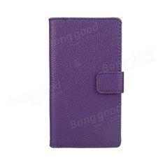 Litchi Stria Wallet Case For Sony Xperia Z L36h