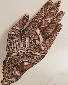 Gorgeous Indian mehndi designs for hands this wedding season - Henna - Latest Bridal Mehndi Designs, Mehndi Designs 2018, Henna Art Designs, Modern Mehndi Designs, Mehndi Designs For Beginners, Mehndi Designs For Girls, Wedding Mehndi Designs, Tattoo Designs, Mehandi Designs