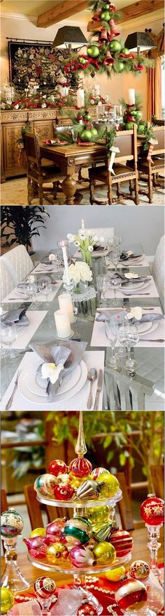 Christmas tablescabe and centerpiece decorating ideas