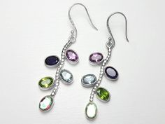 Sterling Silver Mix Gemstone Earrings