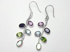 Sterling Silver Mix Gemstone Earrings