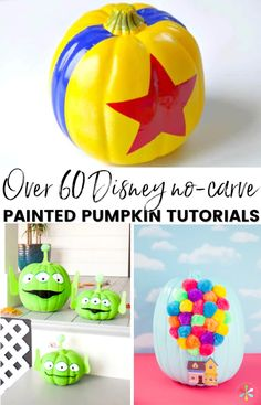 Try these Disney painted pumpkins and no-carve Disney pumpkin ideas to wow your neighbors this Halloween. They'll even help your pumpkin last longer! Minnie Mouse Pumpkin, Disney Pumpkin, Mickey Mouse, Pumpkin Decorating Contest, Pumpkin Contest, Holiday Decorating, Decorating Ideas, Cute Pumpkin, Pumpkin Crafts