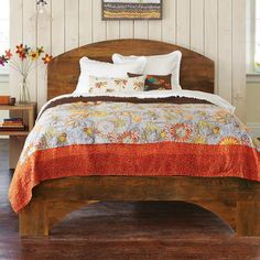 RECYCLED PICKLE BARREL BED  from waitforit......Sundance Catalog