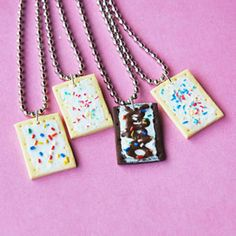 4x BFF Poptart Necklace so cute!