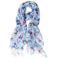 Scarfand's Pretty Butterflies & Flowers Scarf (Blue) Scarfand. $15.00