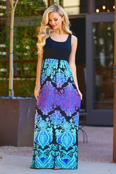 Iridescent Dream Maxi Dress - Black (S to 3XL)