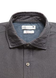 H.E. BY MANGO - Slim-fit cotton shirt #SS14 #MENSWEAR