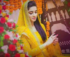 latest ubtan and mehndi dresses for bride Desi Wedding, Wedding Wear, Wedding Bride, Bridal Looks, Bridal Style, Bridal Mehndi Dresses, Pakistani Wedding Outfits, Pakistani Dresses, Nikkah Dress