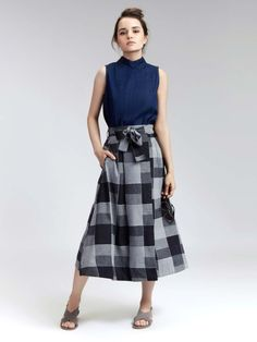 Workwear, Midi Skirt, Plaid, Skirts, Cotton, Stuff To Buy, Shopping, Design, Fashion