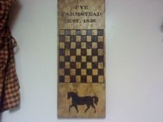 Thease  hand burned Gameboards are my Husbands creations.Thease are not Stenciled..just burned and Stained.