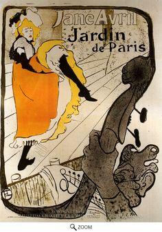 Painting Reproduction of Jane Avril at the Jardin De Paris, Henri De Toulouse-Lautrec