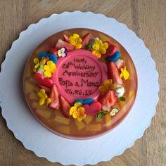 Fruit agar cake