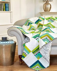 beautiful, fun and modern quilt!