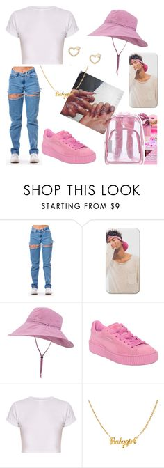 """""""Bucket Hat🍭"""" by lovvveeeeee ❤ liked on Polyvore featuring Outdoor Research, Puma and Lipsy"""