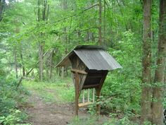 home made deer feeders | Heres a homemade deer feeder that will hold over 500lbs corn or ...