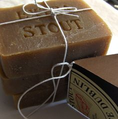 Beer Soap Set of 3 Gift Set- Extra Dark Stout Soap - Handmade Mens Soap - Cold Process Soap - Christmas Gift Dad, Brother, Boyfriend. $16.00, via Etsy.