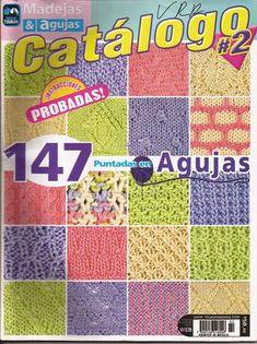 Material educativo y de colección mediante cuadrículas a todo color con la referencia de cada puntada a trabajar sin dificultad Revista pa...