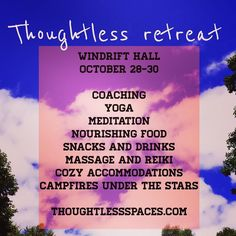 You guys I am geeking out over the new @thoughtlessspaces Project I've created with @windrifthall and the #ThoughtlessRetreat we're brining to you on Oct 28-30. In the past week we've secured both an amazing chef and a beautiful soul of a massage and reiki practitioner for the weekend. If you'll be in the Hudson Valley at the end of October you should steal away to this experience. More details in profile link.