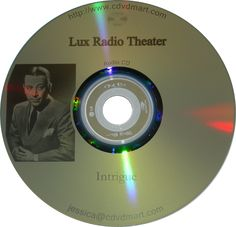 One of my mom's FAVES from 1940's Lux Radio Theatre Intrigue Old Time Radio Shows on CD at CDVDMart