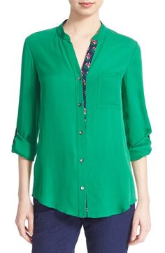 Diane von Furstenberg 'Gilmore' Silk Blouse available at Casual Outfits, Cute Outfits, Nordstrom, Sari, Spring Tops, New Wardrobe, Diane Von Furstenberg, Blouses For Women, Work Wear