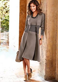Long cardigan, sleeveless dress - Venus