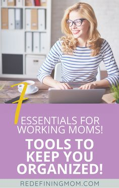Stay organized by using these 7 tools for the working mom. Being a working mom and juggling work life balance doesn't need to be hard. Use these tools to help you with time management, productivity, and more! Balancing Work And Family, Time Management Tools, 3rd Trimester, Organized Mom, Preparing For Baby, Work Life Balance, Work From Home Moms, Working Moms, Raising Kids